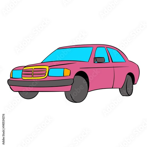 German car icon cartoon Wallpaper Mural