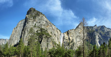 Bridalveil Falls In Yosemite N...