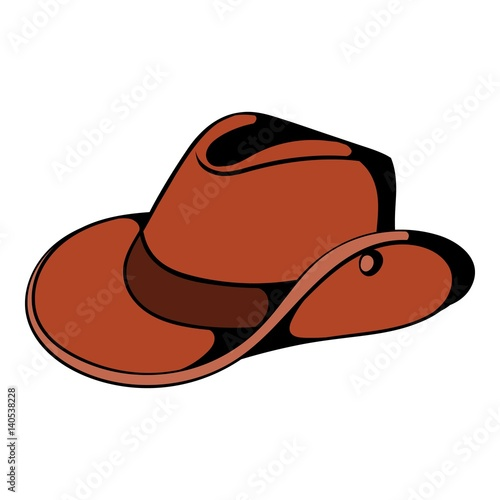 Cowboy hat icon cartoon Wallpaper Mural