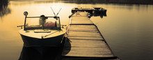 Lifeboat Moored On A River Pan...