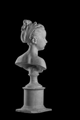 Plaster figure of a bust of the girl portrait of Louise
