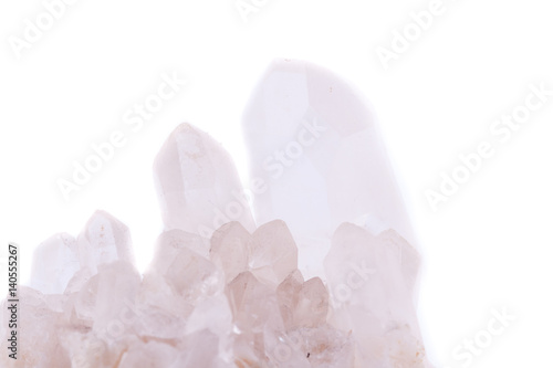 Poster Spa Macro Mineral Stone Rock Crystal (Rhinestone) on a white background