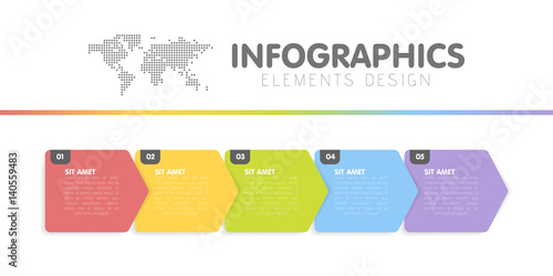 Fotografía  Business infographics template