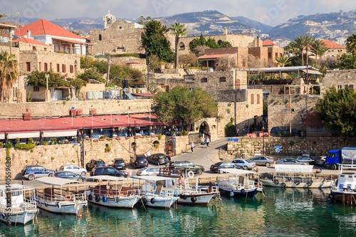 Small harbor in Byblos, Lebanon