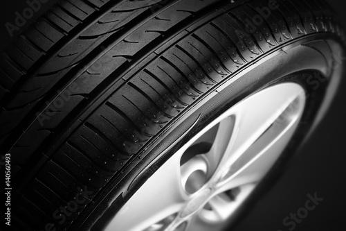Fényképezés Modern car wheel, closeup