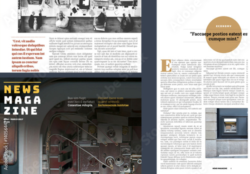 News Magazine Layout. Buy This Stock Template And Explore