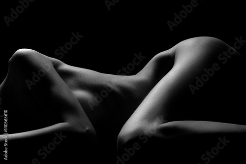 Sexy body nude woman Tablou Canvas