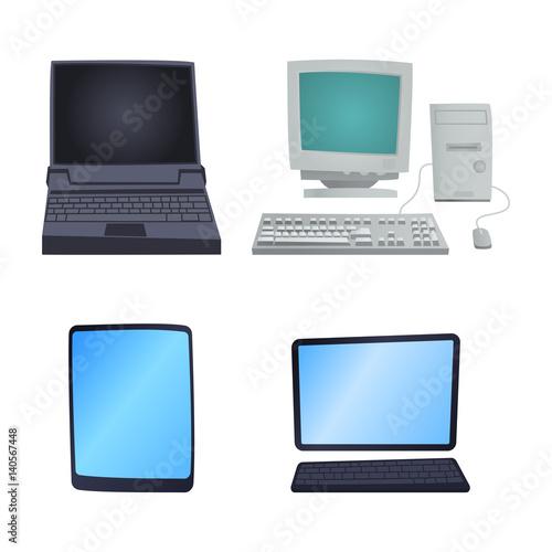 Retro computer item classic antique technology style