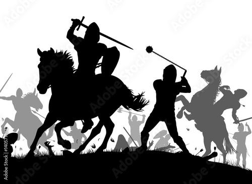 Fotomural Medieval war