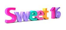 Sweet 16 Celebration Word. 3D ...