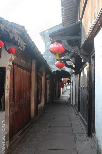 Plakat Antyczny Chiński Watertown w Jiangsu prowinci Chiny