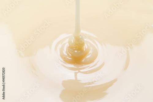 close up of condensed milk background