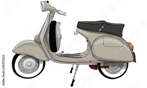 Photo  vintage scooter,vespa