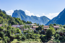 Nong Khiaw Cityscape, Laos