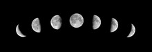 Phases Of The Moon On A Black ...