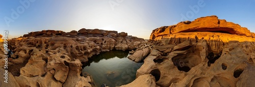 Photo Stands Canyon Panorama of Grand canyon of Thailand / stone mountain at Sam Phan Bok