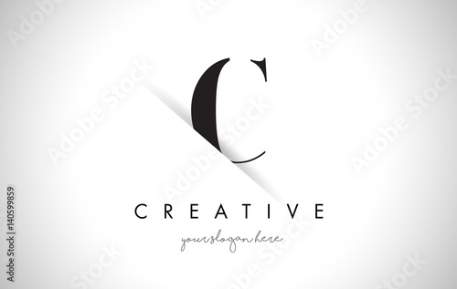 C Letter Logo Design with Creative Paper Cut