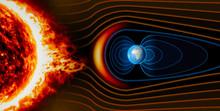 Campo Magnetico Terrestre, Terra, Vento Solare, Flusso Di Particelle, Sole