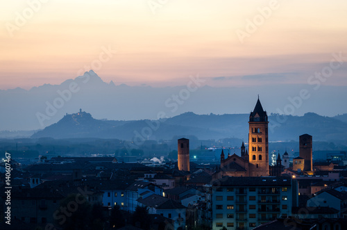 Alba and Monviso Canvas Print