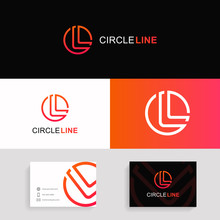 Letter L Logo Icon Circle Sign...