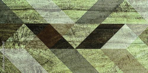 Zdjęcie XXL Geometria mozaiki, abstrakcyjny wzór, płytki ceramiczne