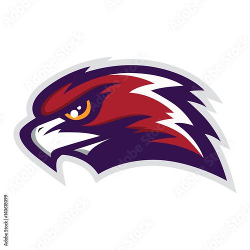 Hawk Head Mascot Vector Logo Canvas Print