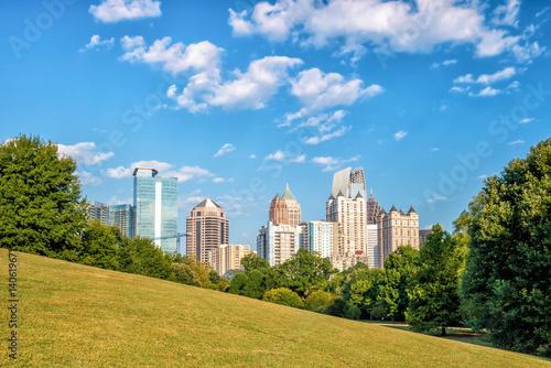 Plakat Midtown Atlanta skyline od parku