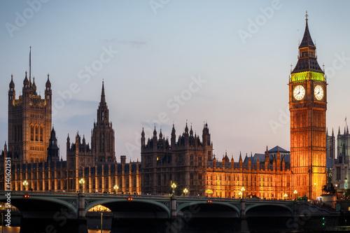 Garden Poster London Big Ben at night