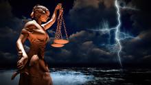 Themis In Court 3d Illustration