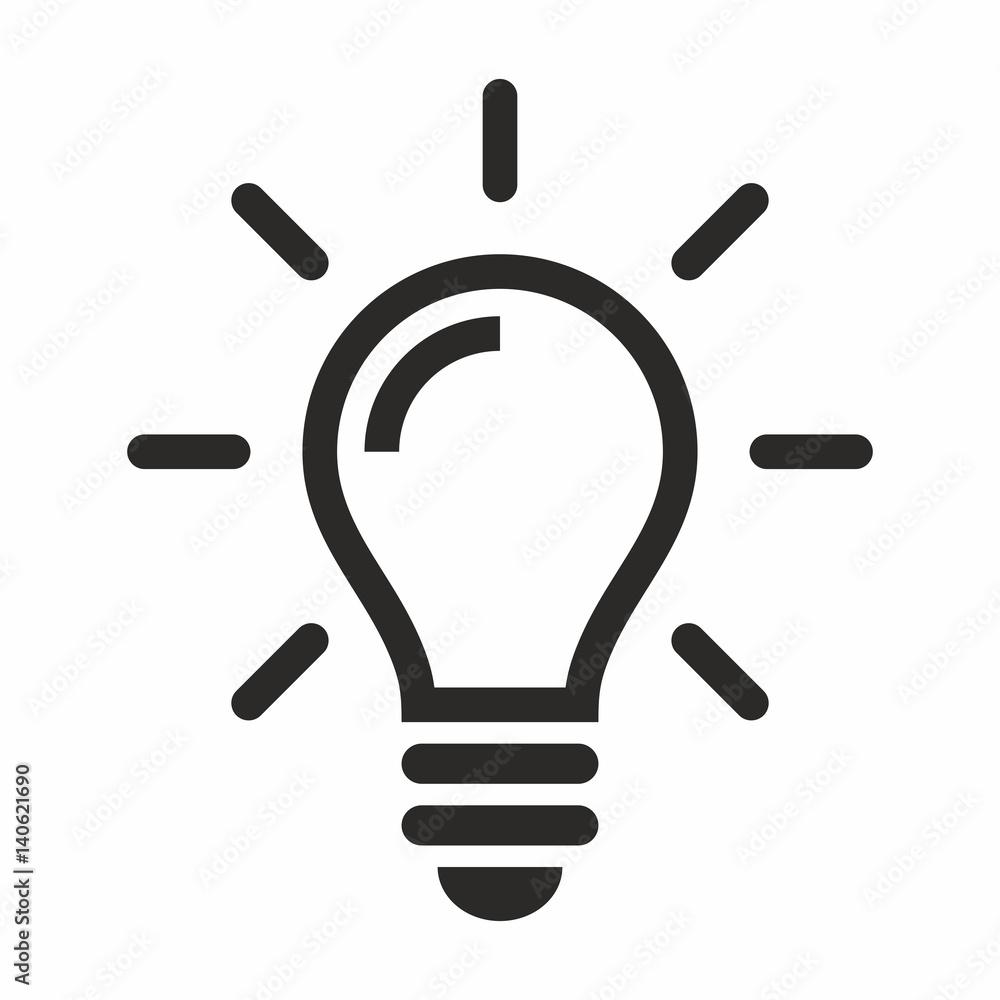 Fotografia  Light bulb icon
