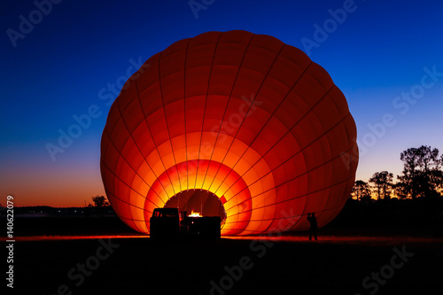 Deurstickers Ballon Balloon sunrise