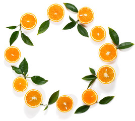 Composition with orange fruits.