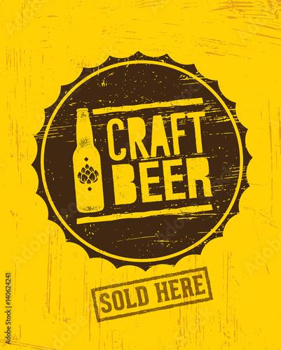 piwo-rzemieslnicze-napis-na-kapslu-craft-beer-w-retro-stylu