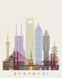 Shanghai V2 skyline poster