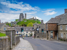Corfe Village And Castle