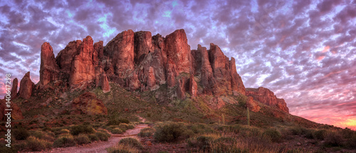 lost-state-state-park-superstition-mountains-at-sunset