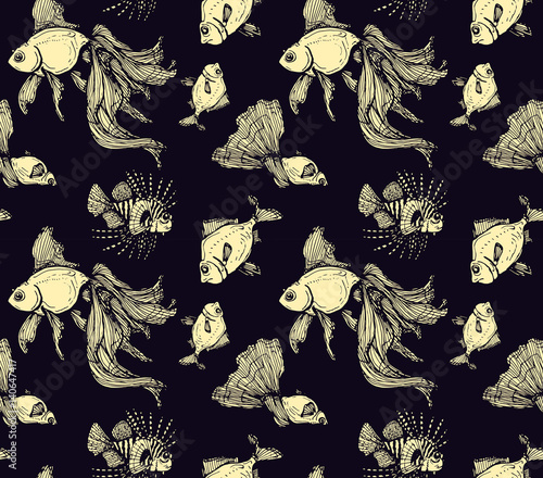 seamless-pattern-with-fishes-on-dark-bac