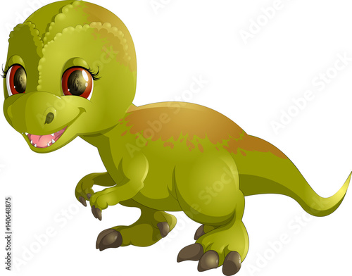 Photo  Beautiful carton dinosaur