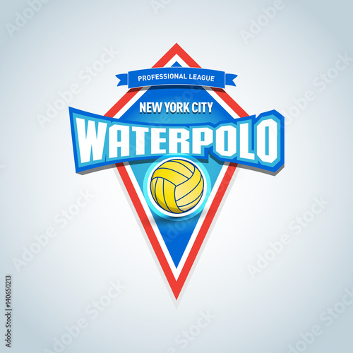 Water Polo Isolated Badge Logo Template Sport T Shirt Graphics Club Emblem College League Tournament Championship Design