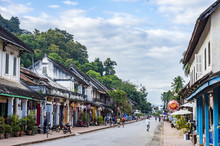 Sisavangvong Road Street In Luang Prabang, Laos