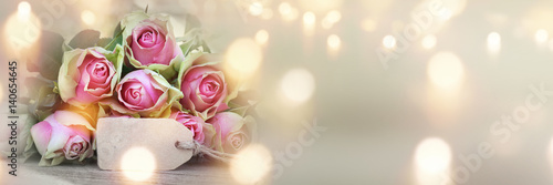Plakat Róże na dzień matki