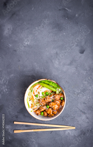 Photo  Asian style noodles