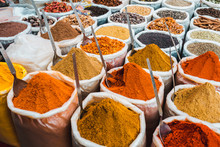 India Spices At The Local Mark...