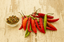 Hot Chilies And Pepper Corns