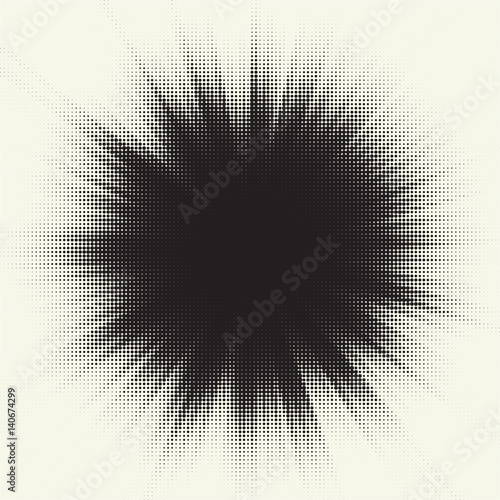 vector halftone starburst design retro sun illustration buy this