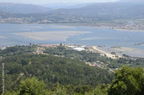 Fotografie, Obraz  Mouth of the river Minho in  Mount of Santa Tecla in Galicia, Spain