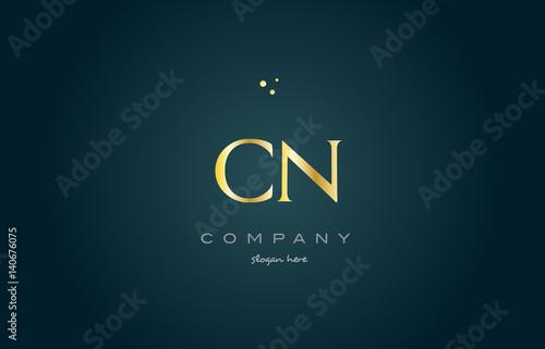 cn c n gold golden luxury alphabet letter logo icon template buy