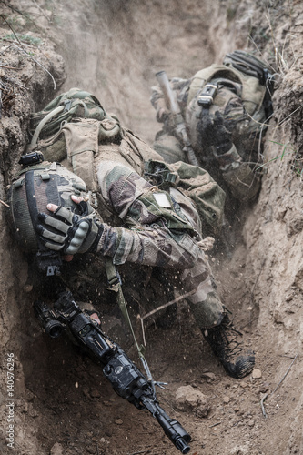 Paratroopers of french 1st Marine Infantry Parachute
