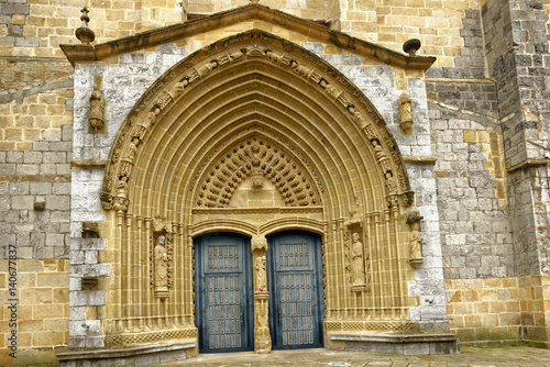 Ornate entryway to the 15th Century A Poster