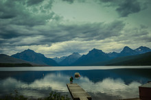 Lake McDonald In Glacier Natio...